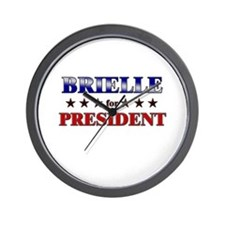 BRIELLE for president Wall Clock