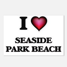 I love Seaside Park Beach Postcards (Package of 8)