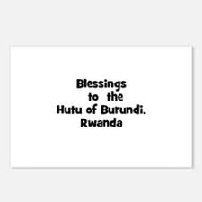 Blessings  to  the  Hutu of B Postcards (Package o