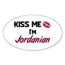 Kiss me I'm Jordanian Oval Decal