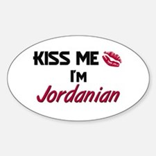 Kiss me I'm Jordanian Oval Decal