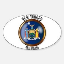New York Proud Flag Button Decal