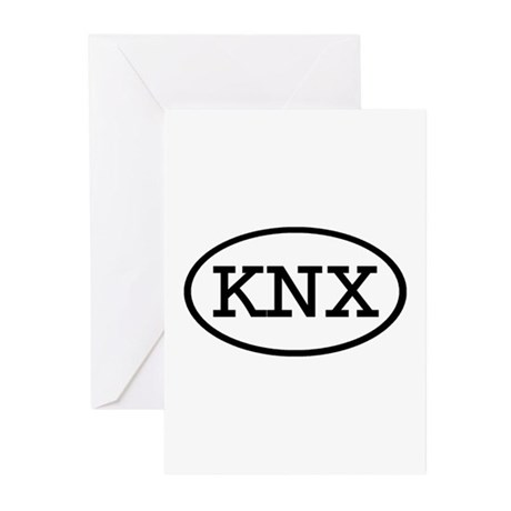 KNX Oval Greeting Cards (Pk of 20)