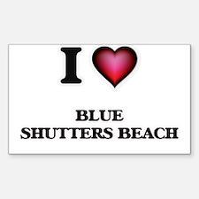 I love Blue Shutters Beach Rhode Island Decal