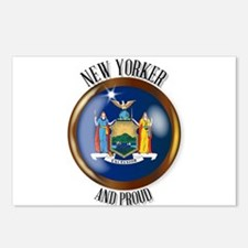New York Proud Flag Butto Postcards (Package of 8)