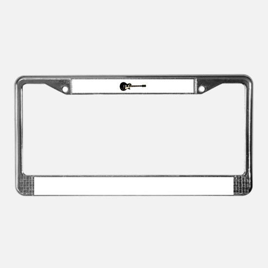 Typical Rock Guitar License Plate Frame