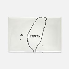 Taiwan Outline Map Magnets