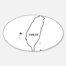 Taiwan Outline Map Decal