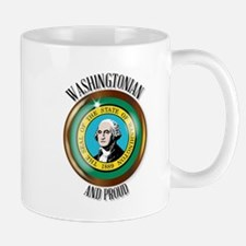 Washington Proud Flag Button Mugs
