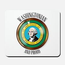 Washington Proud Flag Button Mousepad