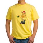 Kiss a Mason Mistletoe Yellow T-Shirt