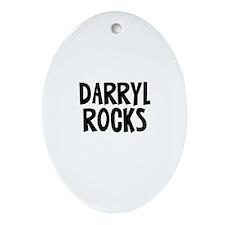 Darryl Rocks Oval Ornament