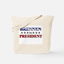 BRENNEN for president Tote Bag