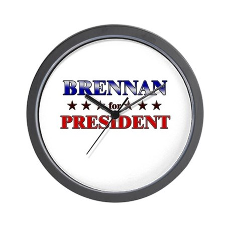 BRENNAN for president Wall Clock