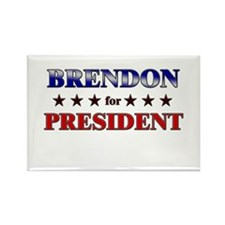 BRENDON for president Rectangle Magnet