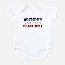 BRENDON for president Infant Bodysuit