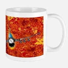 Jet Fighter Leaving The Aftermath Mugs