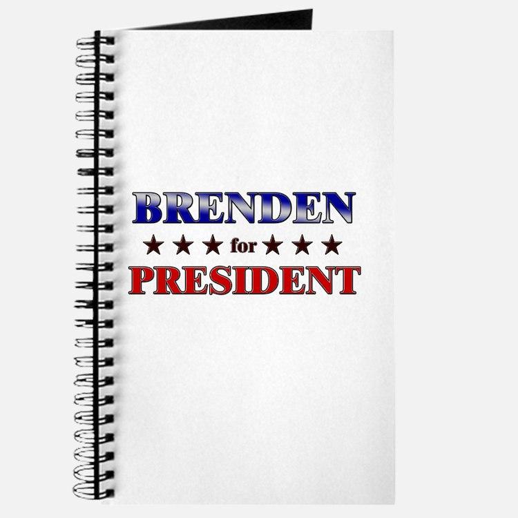 BRENDEN for president Journal