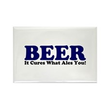 The Beer Cure Rectangle Magnet (100 pack)