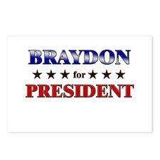 BRAYDON for president Postcards (Package of 8)