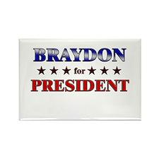 BRAYDON for president Rectangle Magnet