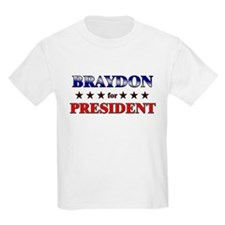 BRAYDON for president T-Shirt