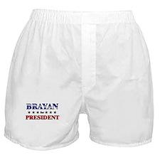 BRAYAN for president Boxer Shorts