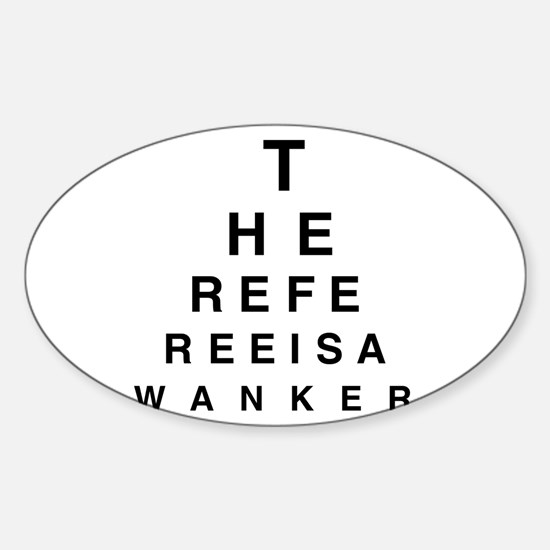 Blind REFEREE Oval Decal