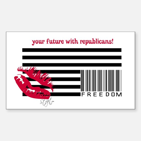 American Corporations Flag Rectangle Decal