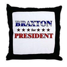 BRAXTON for president Throw Pillow