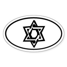 Star of David Oval Decal