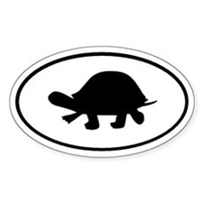 Turtle Oval Stickers