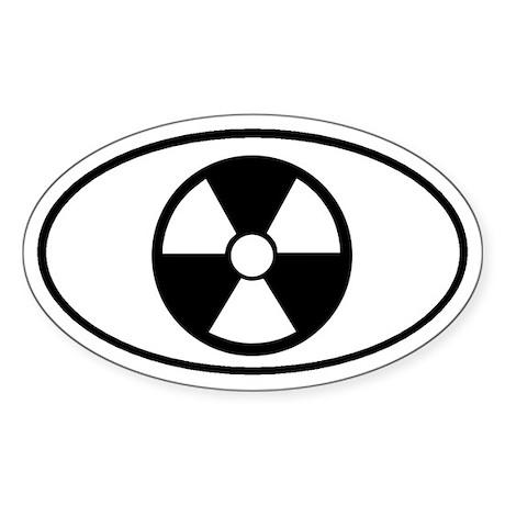 Atomic Symbol Oval Sticker