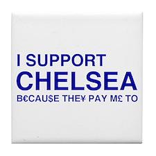 I Support Chelsea Tile Coaster