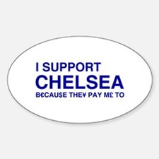I Support Chelsea Oval Decal