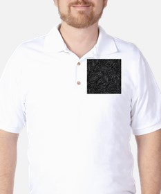 Black Flourish Golf Shirt