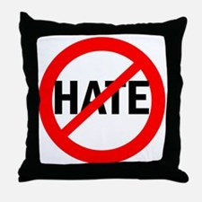 Say NO to Hate Throw Pillow