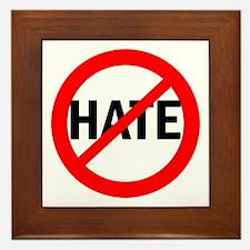 Say NO to Hate Framed Tile