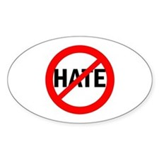 Say NO to Hate Oval Decal