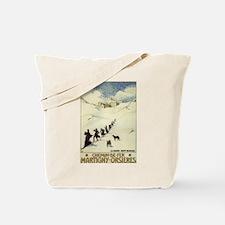 Monks Skiing Great St. Bernard Pass Tote Bag