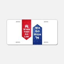 Low-High Aluminum License Plate