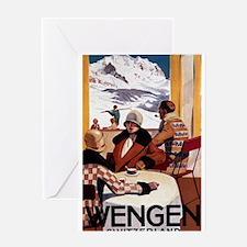 Wengen, Switzerland - Wengen Downhill Club Greetin