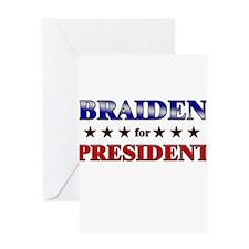 BRAIDEN for president Greeting Card
