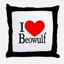 I Love Beowulf Throw Pillow
