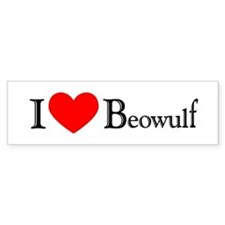 I Love Beowulf Bumper Bumper Sticker