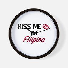Kiss me I'm Filipino Wall Clock