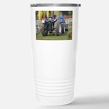 Cute Blue tractor Travel Mug