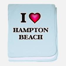 I love Hampton Beach New Hampshire baby blanket