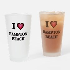 I love Hampton Beach New Hampshire Drinking Glass