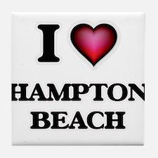 I love Hampton Beach New Hampshire Tile Coaster